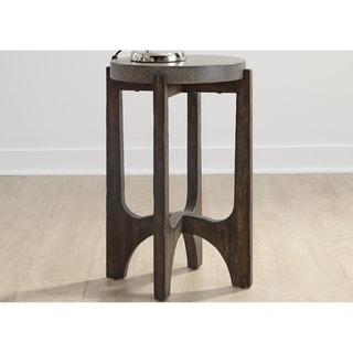 Cascade Wire Brush Rustic Brown Chair Side Table