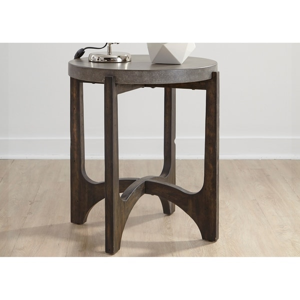 Shop Cascade Wire Brush Rustic Brown End Table   On Sale   Free Shipping  Today   Overstock   21383536