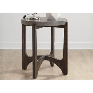 Cascade Wire Brush Rustic Brown End Table
