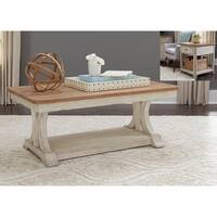 Farmhouse Reimagined Antique White Table 3-piece Set