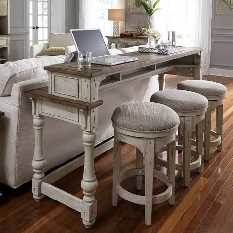 Morgan Creek Antique White 4-piece Console Set