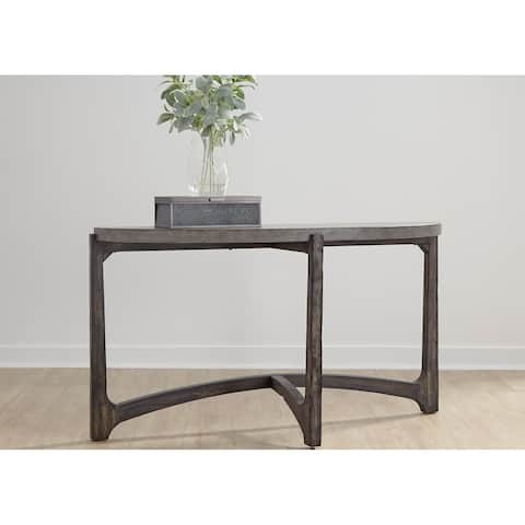 Cascade Wire Brush Rustic Brown Sofa Table