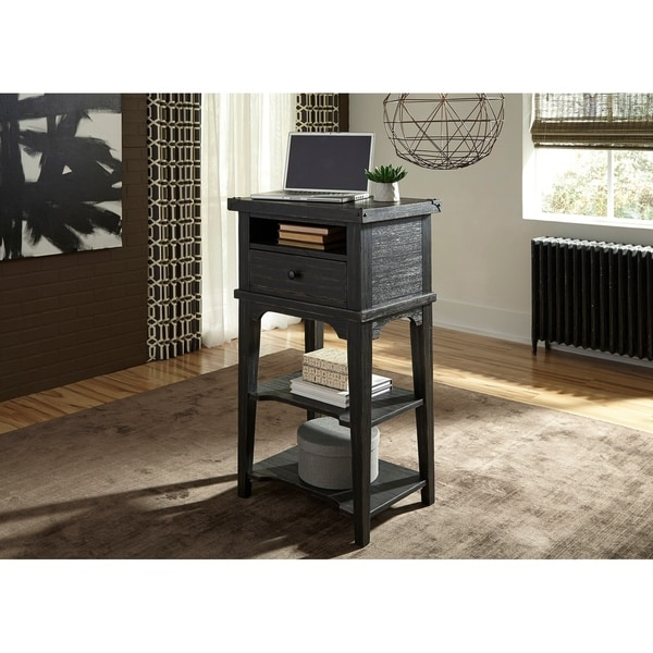 Shop Liberty Wire Brushed Black Stand Alone Laptop Desk