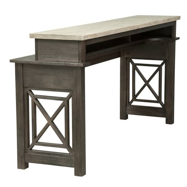 Swell Shop Heatherbrook Charcoal And Ash Console Bar Table On Pabps2019 Chair Design Images Pabps2019Com