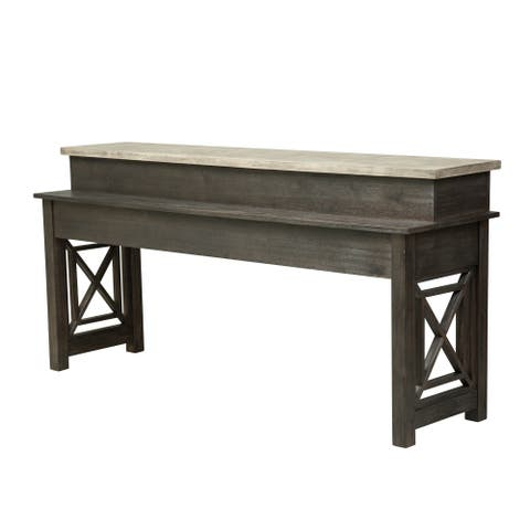 Heatherbrook Charcoal and Ash Console Bar Table