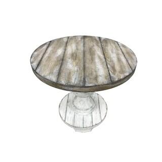 Sedona Heavy Distressed White Round End Table