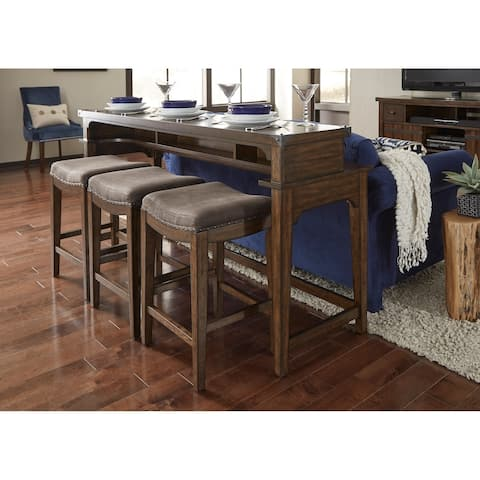 Aspen Skies Russet Brown 4-piece Console Set