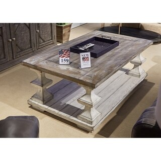 distressed white table. Sedona Heavy Distressed White Cocktail Table