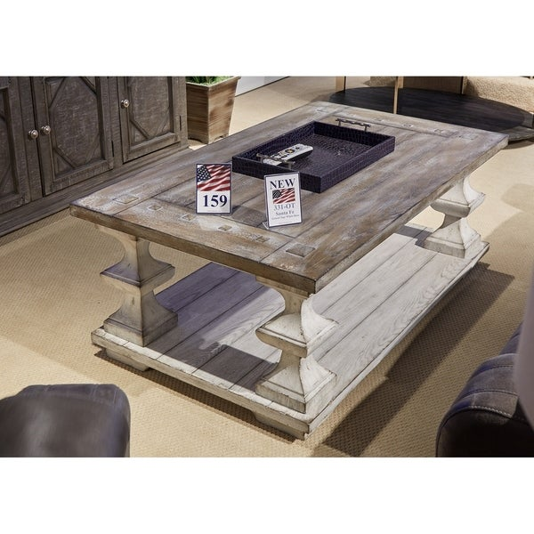 Overstock White Coffee Table.Shop Sedona Heavy Distressed White Cocktail Table Free Shipping