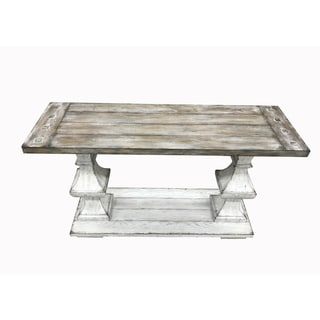 Sedona Heavy Distressed White Sofa Table