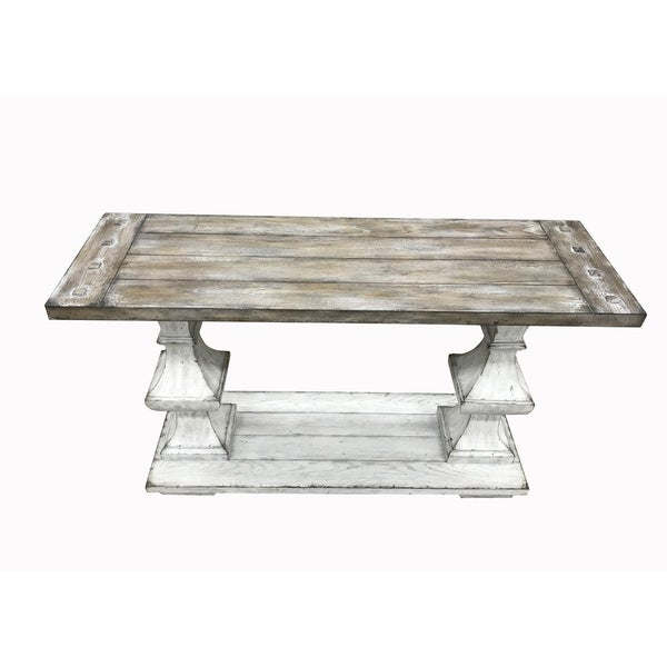 Sedona Heavy Distressed White Sofa Table