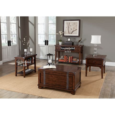 Aspen Skies Russet Brown Table 3-piece Set
