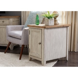Farmhouse Reimagined Antique White Door Chair Side Table