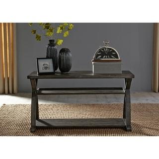 Twin Oaks Rustic Charcoal Sofa Table
