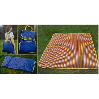 Imperial Home Waterproof Outdoor Packable Blue Blanket