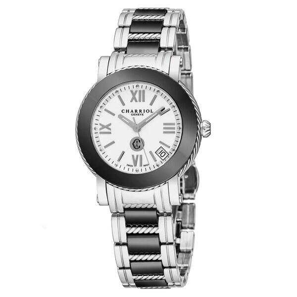 Shop Charriol Women's P33SCP.33C.004 'Parisi' White Dial ... Quartz Crystal Scp