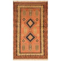 Handmade Herat Oriental Indo Hand-knotted Kazak Wool Rug (3' x 5'1)