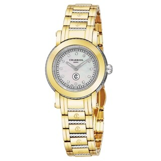 Charriol Women's P28Y2P.28Y2.005 'Parisi' Mother of Pearl Dial Two Tone Stainless Steel Swiss Quartz Watch