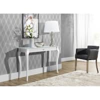 Bresso Beech Wood Glass Top Console Table
