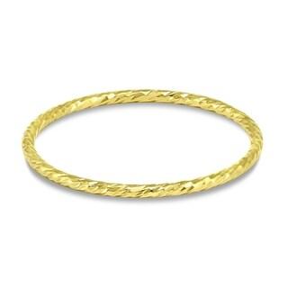 14k Gold Filled 1mm Hammered Sparkle Band