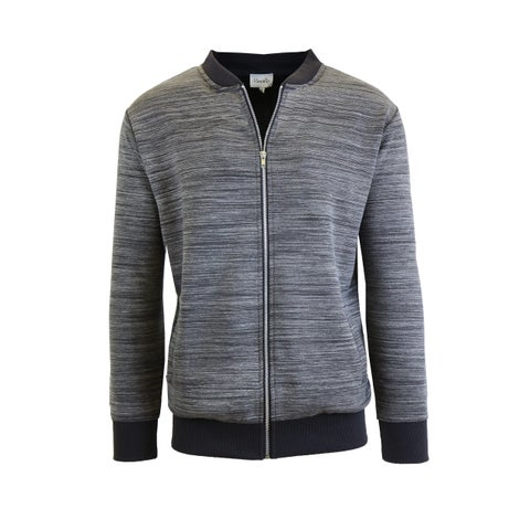 Men's Marled Full Zip Stretch Sweater Jackets