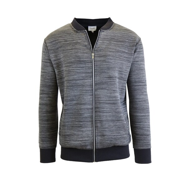 Mens Marled Full Zip Stretch Sweater Jackets