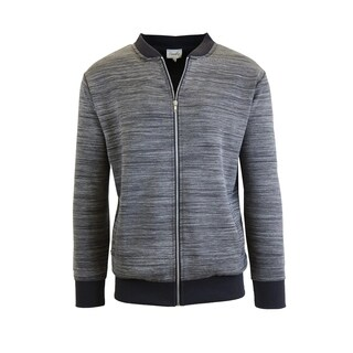 Men's Marled Full Zip Stretch Sweater Jackets