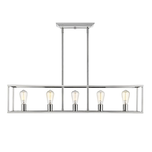 Wesson 5-Light Linear Pendant in Chrome