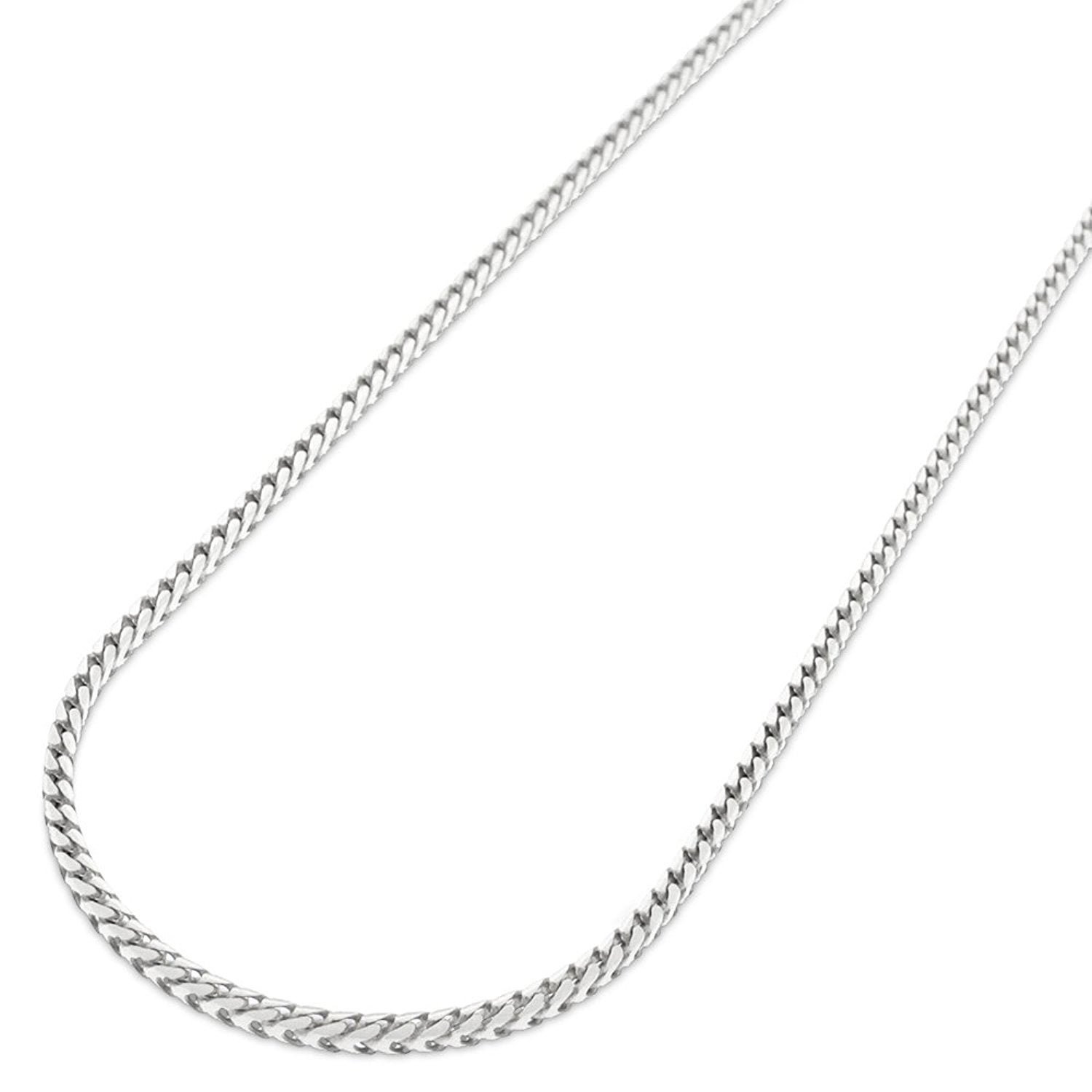 """30/"""" 925 Sterling Silver Italian Solid Box Necklace Pendant Chain 1.5mm 16/"""""""