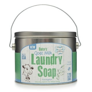 Daisy's Goat Milk All Natural Laundry Soap Detergent, Eucalyptus, 120 Loads, Case of 4