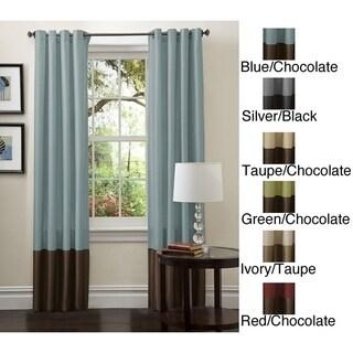 "Porch & Den Lapeyrous Faux Silk 84-inch Curtain Panel Pair - 52""W x 84""L"