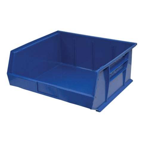 "Shelving-Pro Case of Stackable Blue Bins, 14"" x 16"" x 7"" (6 bins)"