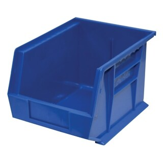 "Shelving-Pro Case of Stackable Blue Bins, 11"" x 8"" x 7"" (6 bins)"