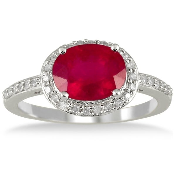 SPARKLING 4 CT RUBY 925 STERLING SILVER RING SIZE 5-10