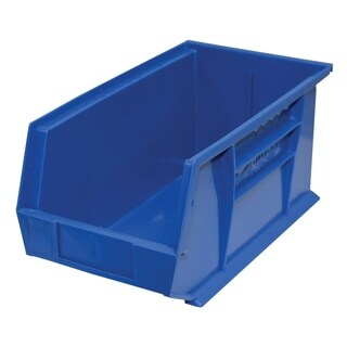 "Shelving-Pro Case of Stackable Blue Bins, 14"" x 8"" x 7"" (12 bins)"