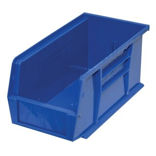 "Shelving-Pro Case of Stackable Blue Bins, 11"" x 5"" x 5"" (12 bins)"