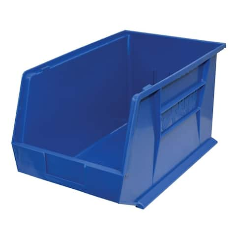 "Shelving-Pro Stackable Storage Bins Blue, 18"" x 11"" x 10"" (4 bins)"