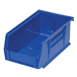 "Shelving-Pro Case of Stackable Blue Bins, 7"" x 4"" x 3"" (24 bins)"