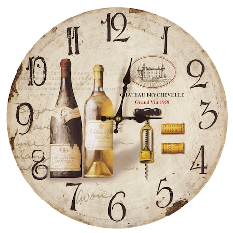 Yosemite Home Décor Wine Tasting Wall Clock