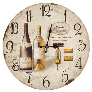 Yosemite Home Decor Wine Tasting Wall Clock