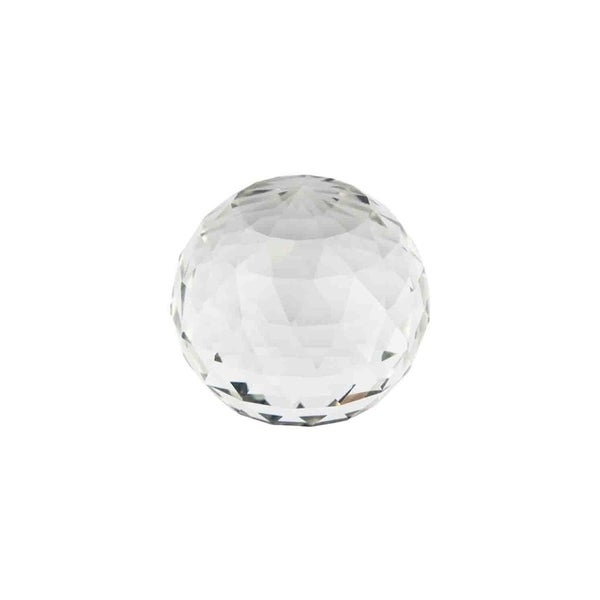 Sagebrook Home 12755-03 Decorative Glass Faceted Orb, Clear Glass, 3 x 3 x 3 Inches