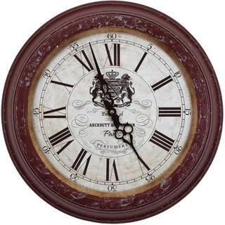 Yosemite Home Décor Archbutt Perfumers Wall Clock