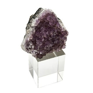 Sagebrook Home 12083-01 Amethyst On Base Decor, Purple Stone, 5.75 x 3 x 7.75 Inches