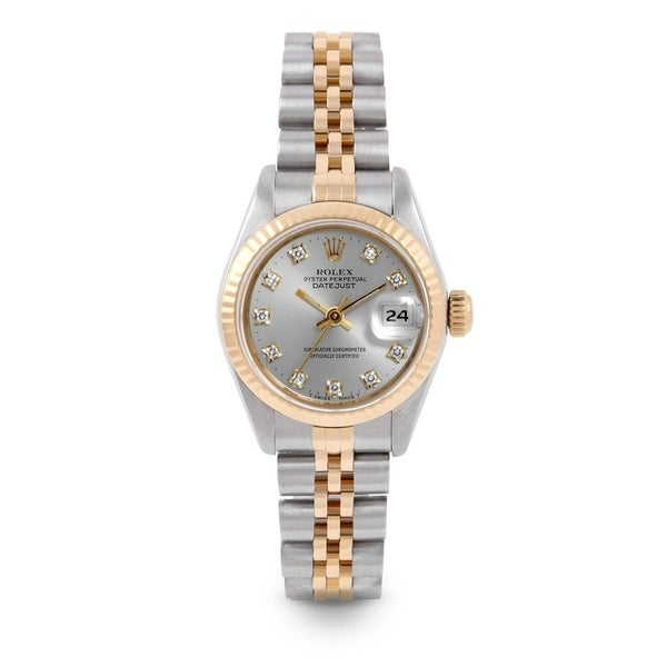 8cc1e3b416e2 Pre-Owned Rolex 26mm Ladies Datejust Watch - 6917 - Steel  amp  Yellow Gold