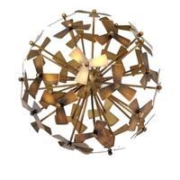 Sagebrook Home 12102-01D Metal Pinwheel Decorative Orb, Copper Metal, 7.75 x 7.75 x 7.75 Inches