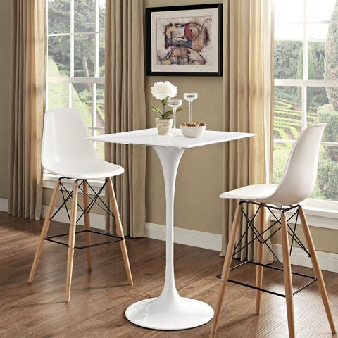 Carson Carrington Kirkkonummi 28-inch White Square Top Bar Table