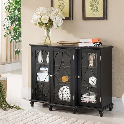 Copper Grove Sonfjallet Black Wood Console Table