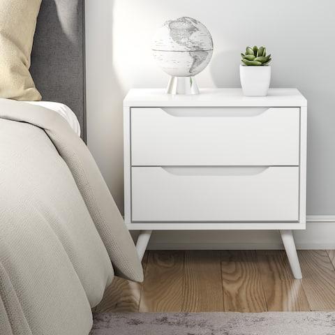 Carson Carrington Bodo Mid-century Modern 2-drawer Nightstand