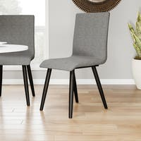 """Carson Carrington Odda Mid-century Modern Style Grey Upholstered Dining Chair (Set of 2) - 17""""W X 21 1/2""""D X 36""""H"""