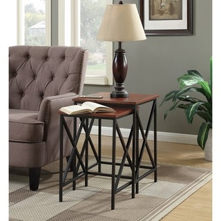 Carbon Loft Ehrlich Brown Metal Nesting End Tables (Set of 2)